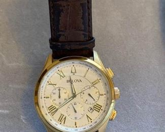 017 Bulova Large Faced Womans Watch