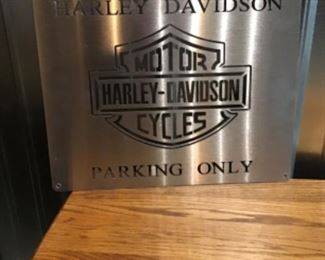Stainless Steel Harley Davidson Sign