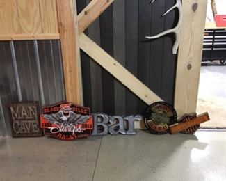 Collection Of Man Cave And Harley Signs