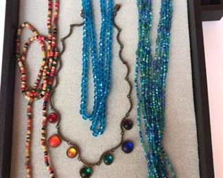 Vintage Mini Wood Beads and Other Necklaces
