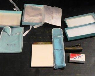 Tiffany & Co Sterling Silver Memo Pad & Stapler