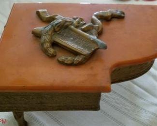 Vintage  bakelite piano jewelry box