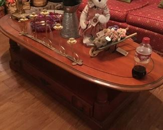 coffee table, and home accents, boyd's bears collection.