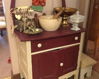 Wash stand, and home accents.