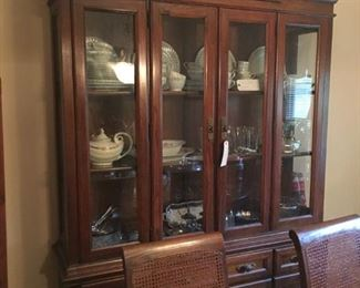 China cabinet, china and glassware