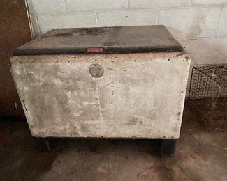 Antique Icebox Cooler