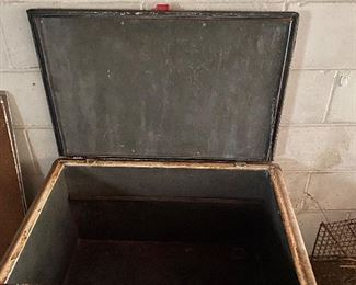 Antique Icebox Cooler inside view