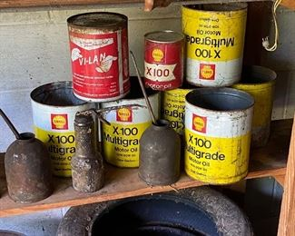 Assorted Antique Oil Cans