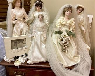 Vintage Bride Dolls - Including Princess Grace and Lady Diana