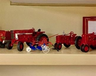 Vintage Ertl Tractors Along With Some Friends                                                    -