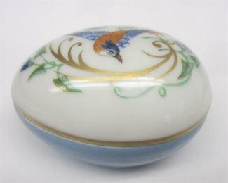 Fait Main Porcelain Egg Trinket Box