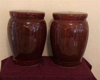 2 Large Decorative Vases