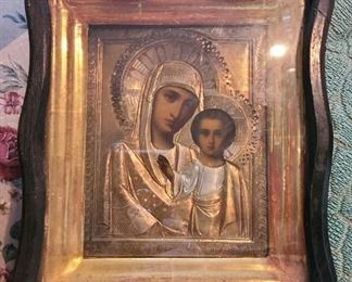 Antique framed icon