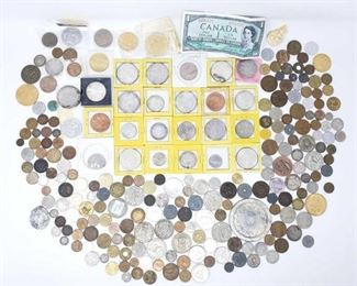 2740  Foreign Currency And Tokens Includes Pesos, Canada, India, Guatemala, Paraguay, And More