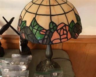 Tiffany styled lamp.