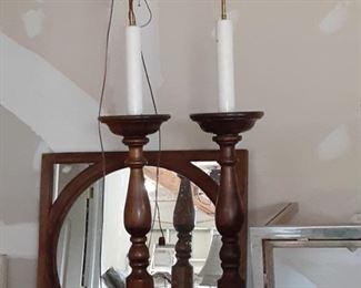 Pair of Wood Floor Lamps