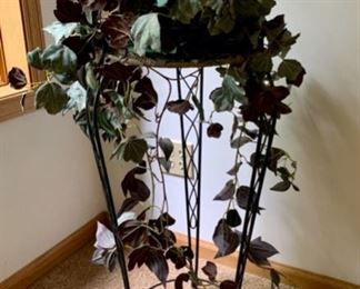 $16.00........Plant Stand and Faux Plant (J583)