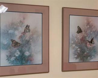 $150.00........Pair of Vintage Lena Liu Numbered Prints 246/1950, 246/1950 (J577)