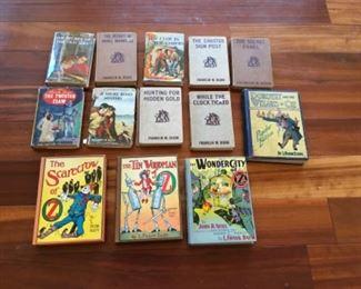 Nancy Drew, Hardy Boys and Wizard of Oz vintage books