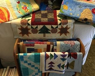Quilt Rack and Quilts