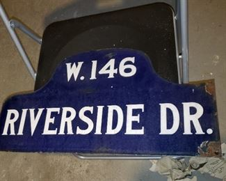 1917 PORCELAIN STREET SIGN