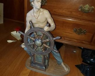 VERY LARGE LLADRO MARITIME SAILER