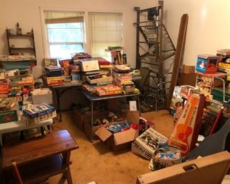 some of the vintage toys and games