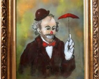 Original Max Karp, Clown with Umbrella