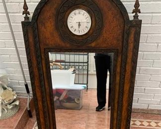 Antique mirror clock