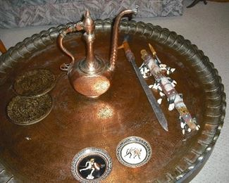 Large copper table from Iran