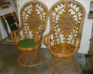 Indonesian Peacock chairs, we have FOUR.
