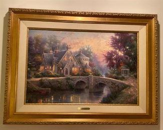 Thomas Kinkade Lamplight Manor Oil Painting