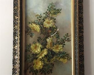 F. W. DeVoe oil painting in antique gilt frame