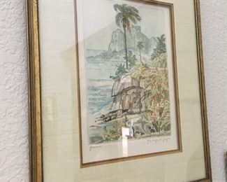 "C. Geyer ""Island Painting"", signed"