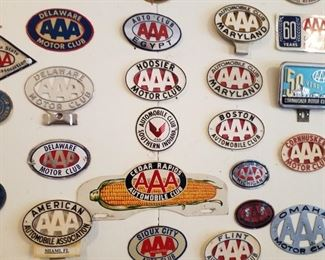 vintage AAA license plate topper collection