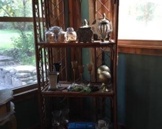 Baker's Rack shelf & Decor