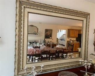 Large antique mirror.