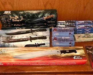 Large selection misc knives