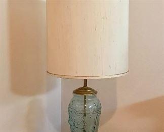 Nice glass base table lamp