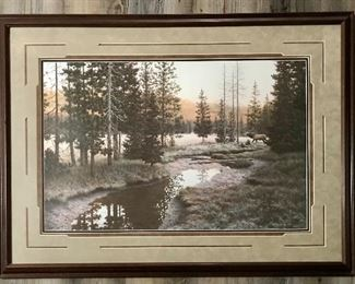 """""""Frosty Morning Reveille"""" framed print by Kay Williams 41""""x30"""""""