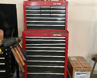 Craftsman rolling tool chest w/some tools