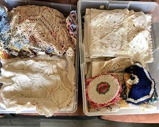 Large selection handmade doilies