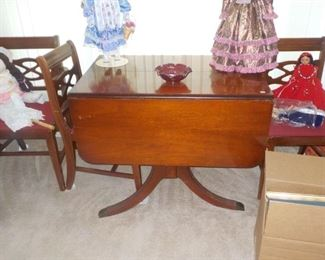 drop leaf table 4 chairs