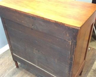 ANTIQUE CURLY MAPLE CHEST OF DRAWERS, 5