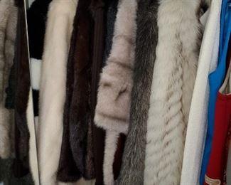 women's fur coats,  size small