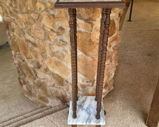 Marble Plant Stand