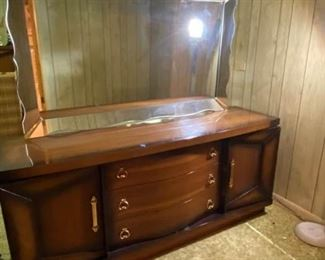 MidCentury Modern Dresser with Mirror