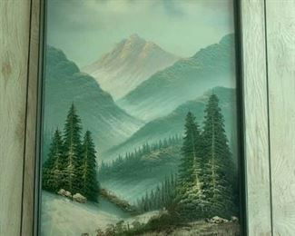 Original oil painting by Anderson