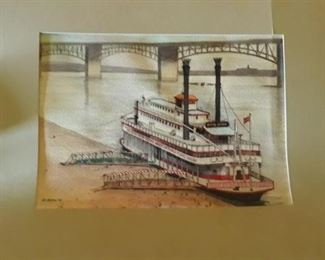 R Collins 81 River Boat Queen Drawing