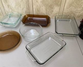 Pyrex Fire King Casserole Dishes Bowls